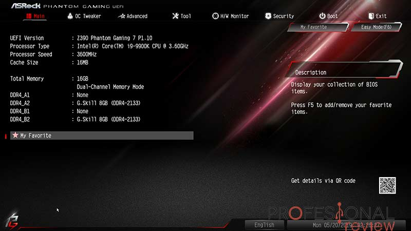ASRock Z390 Phantom Gaming 7 BIOS