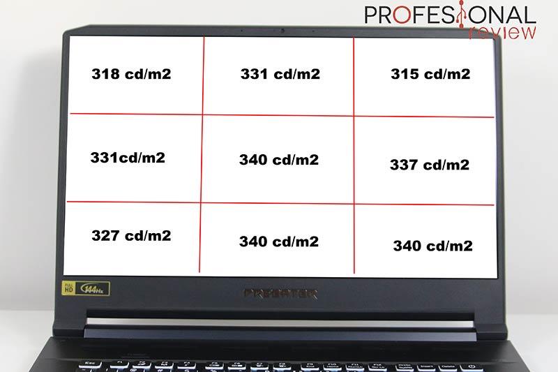 Acer Predator Triton 500 brillo