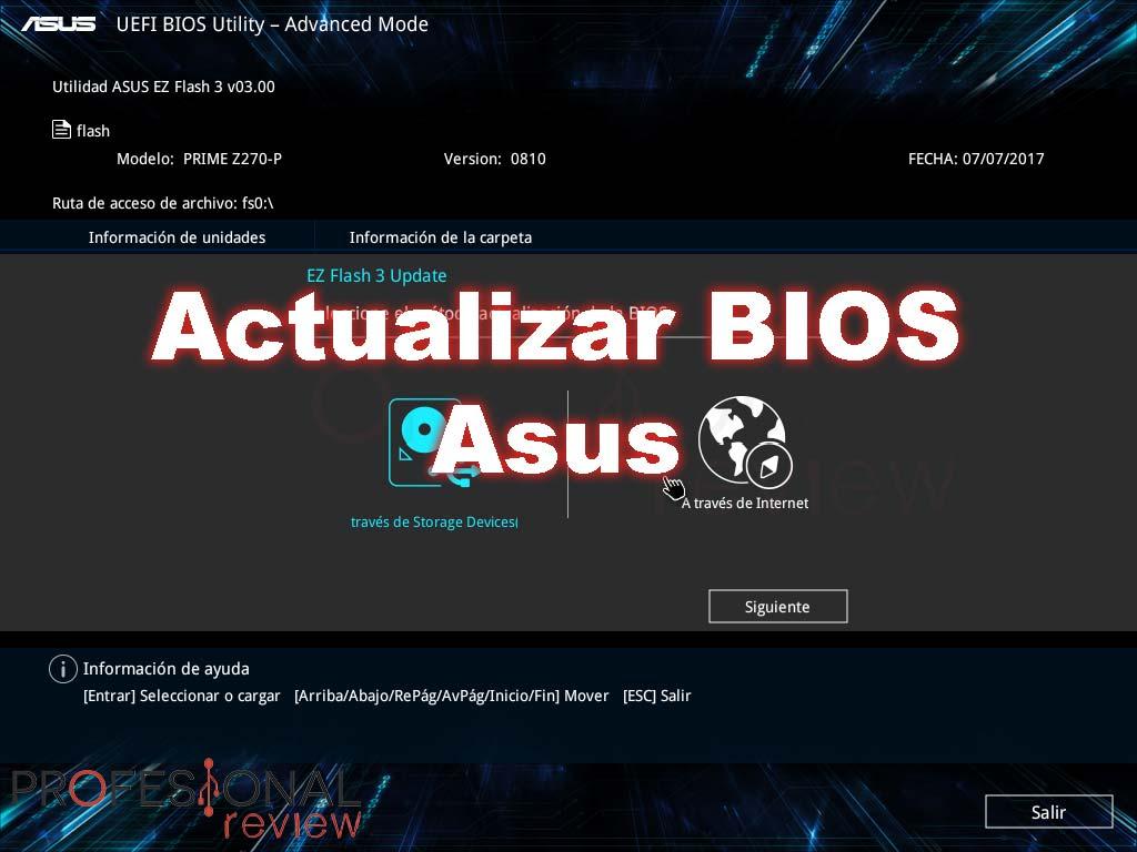 Actualizar BIOS Asus