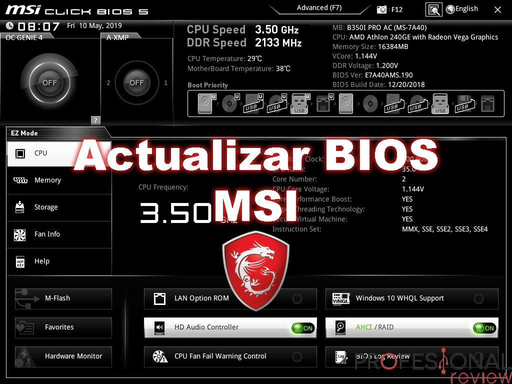 Actualizar BIOS MSI