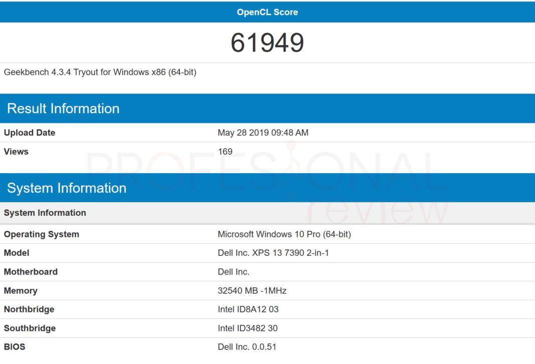 Intel Core i7-1065G7 benchmark