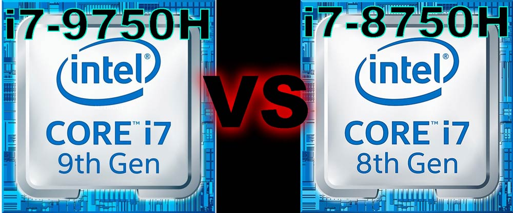 Intel Core i7-9750H vs Intel Core i7-8750H