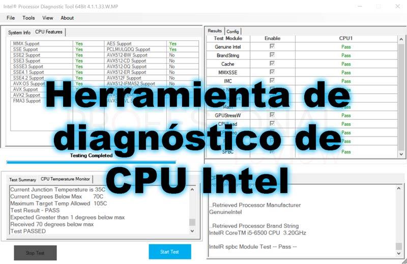 Herramienta de diagnóstico de procesador Intel