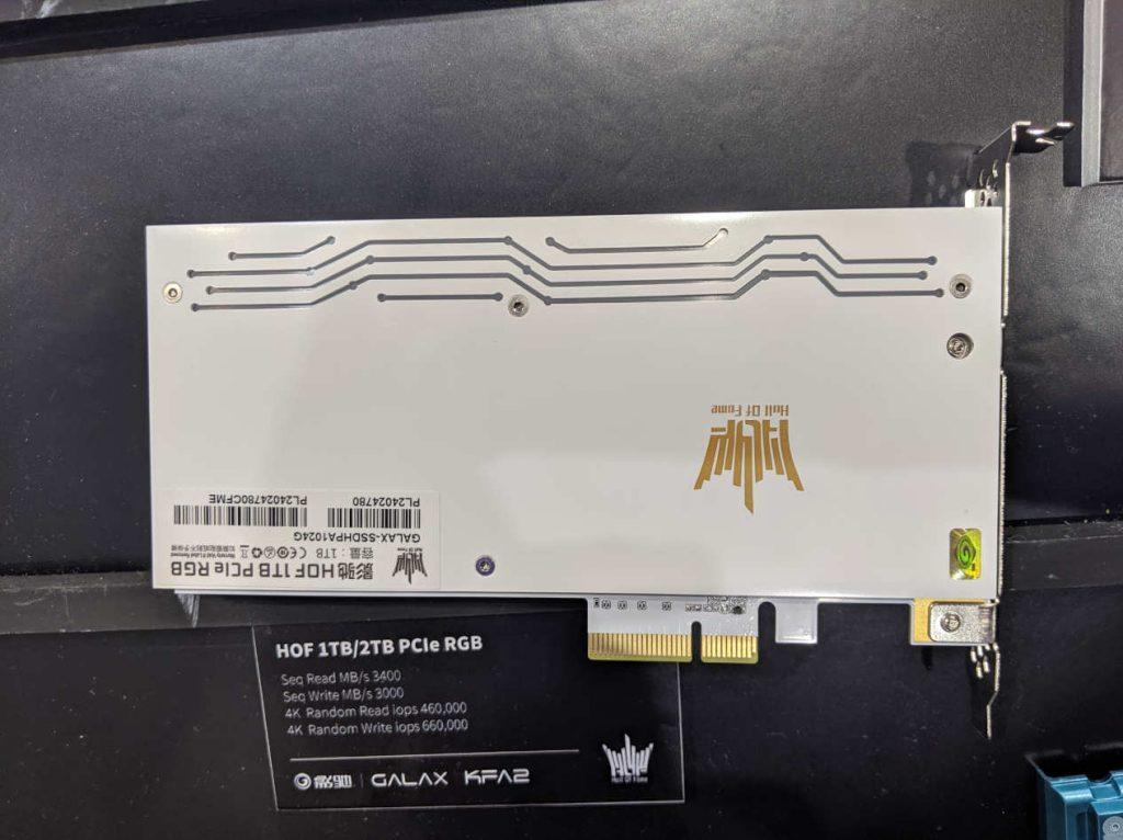 Memoria SSD PCI-E 4X en su stand