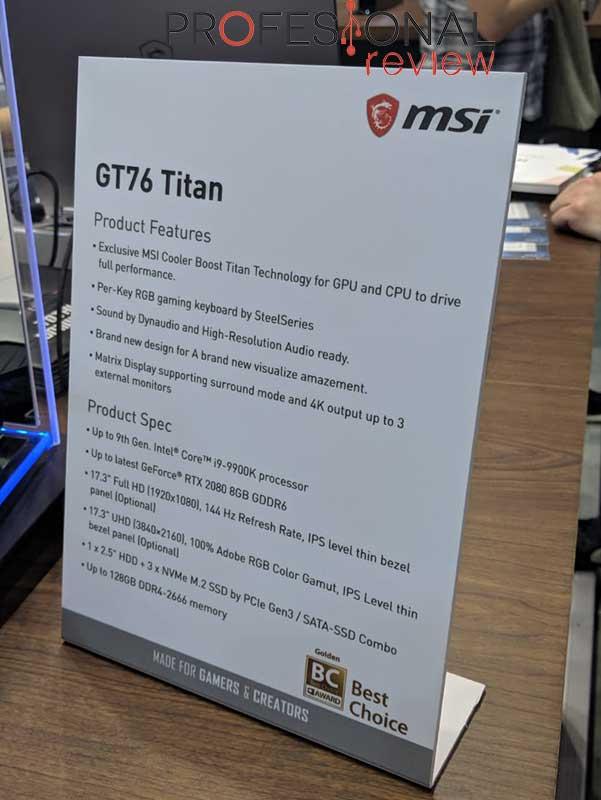 MSI GT76 Titan