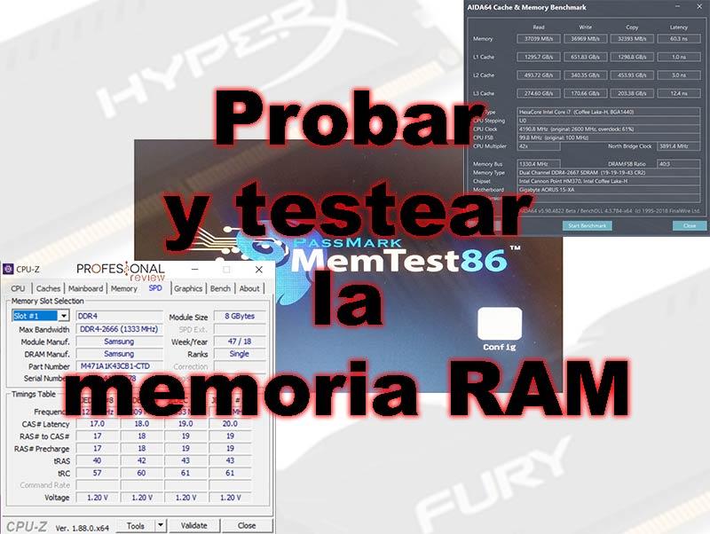 Probar y testear memoria RAM