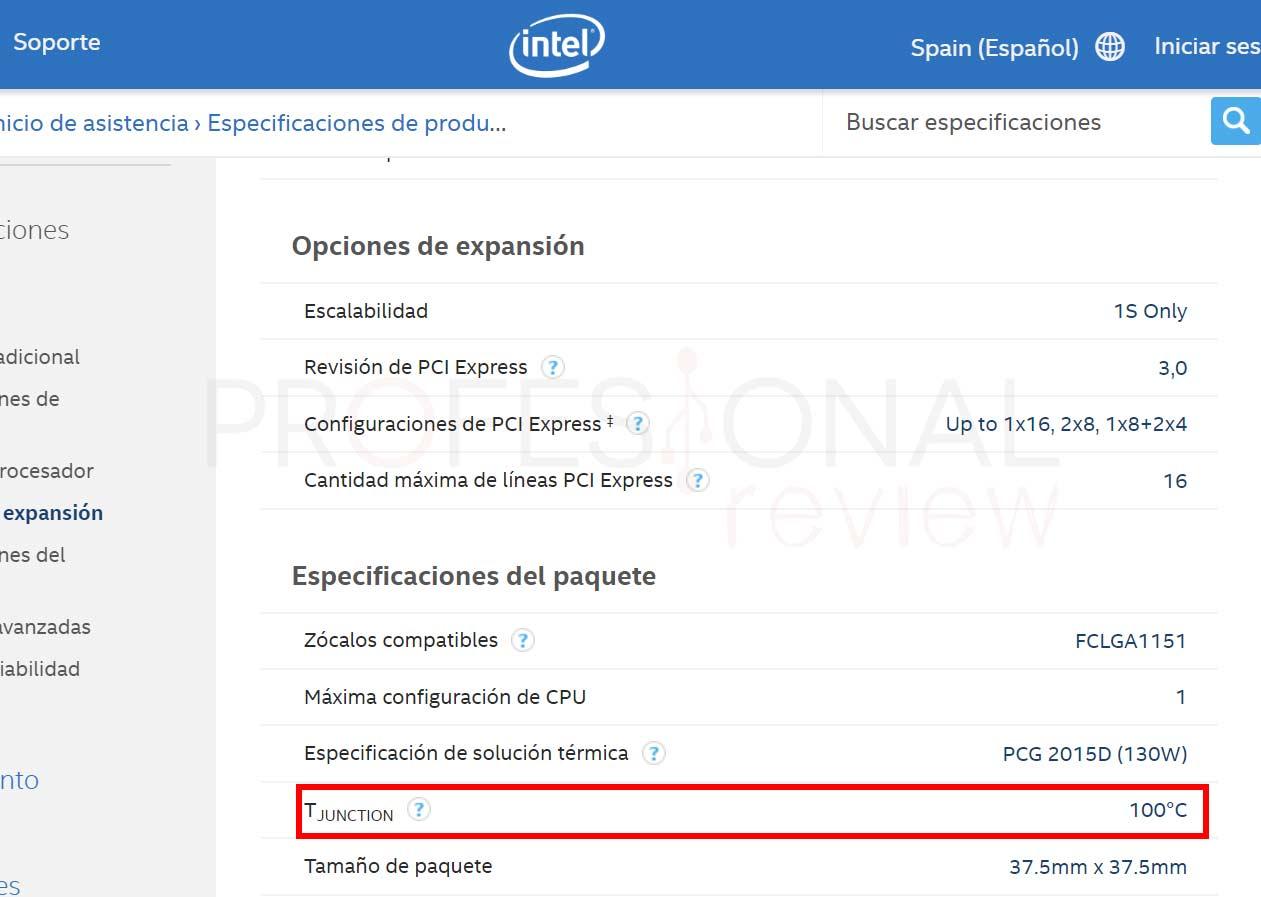 temperatura junction Intel