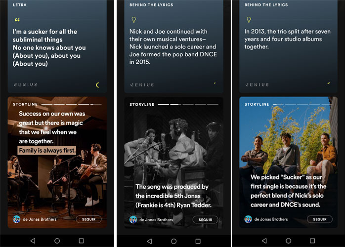 Spotify historias