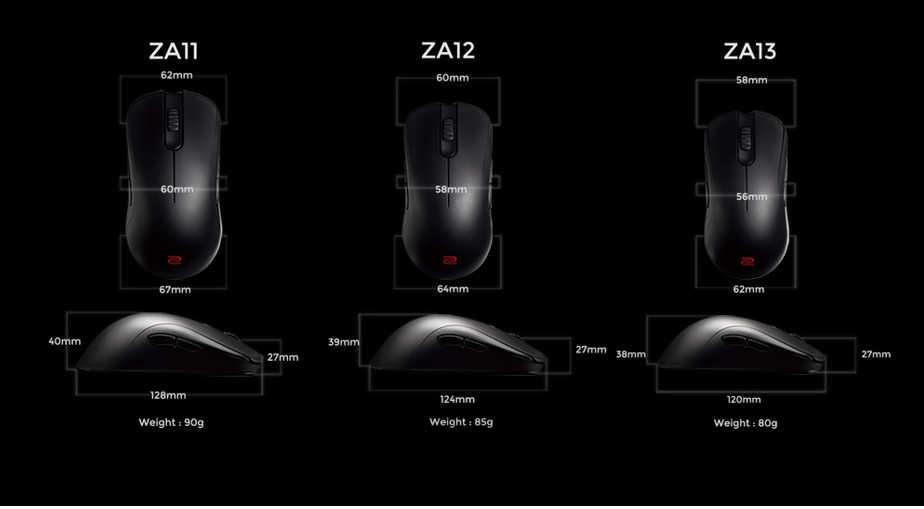 Características de los ratones ZA de Zowie
