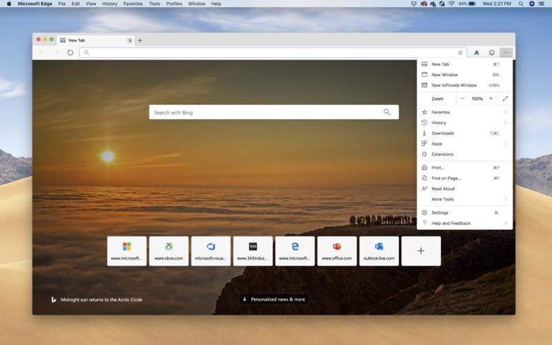 Microsoft lanza la primera previa de Edge para Mac