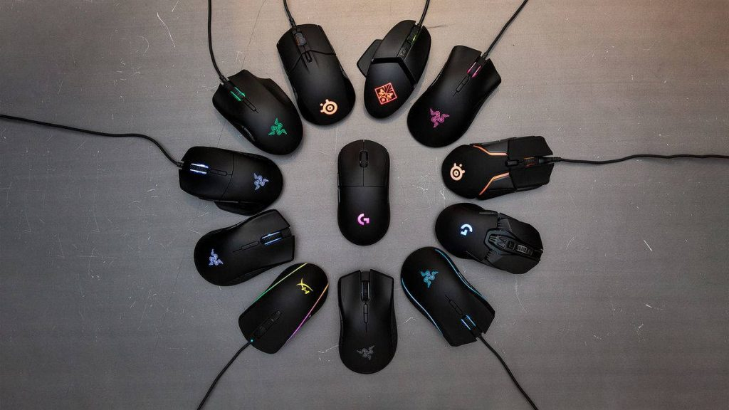 Ratones gaming de diferentes marcas