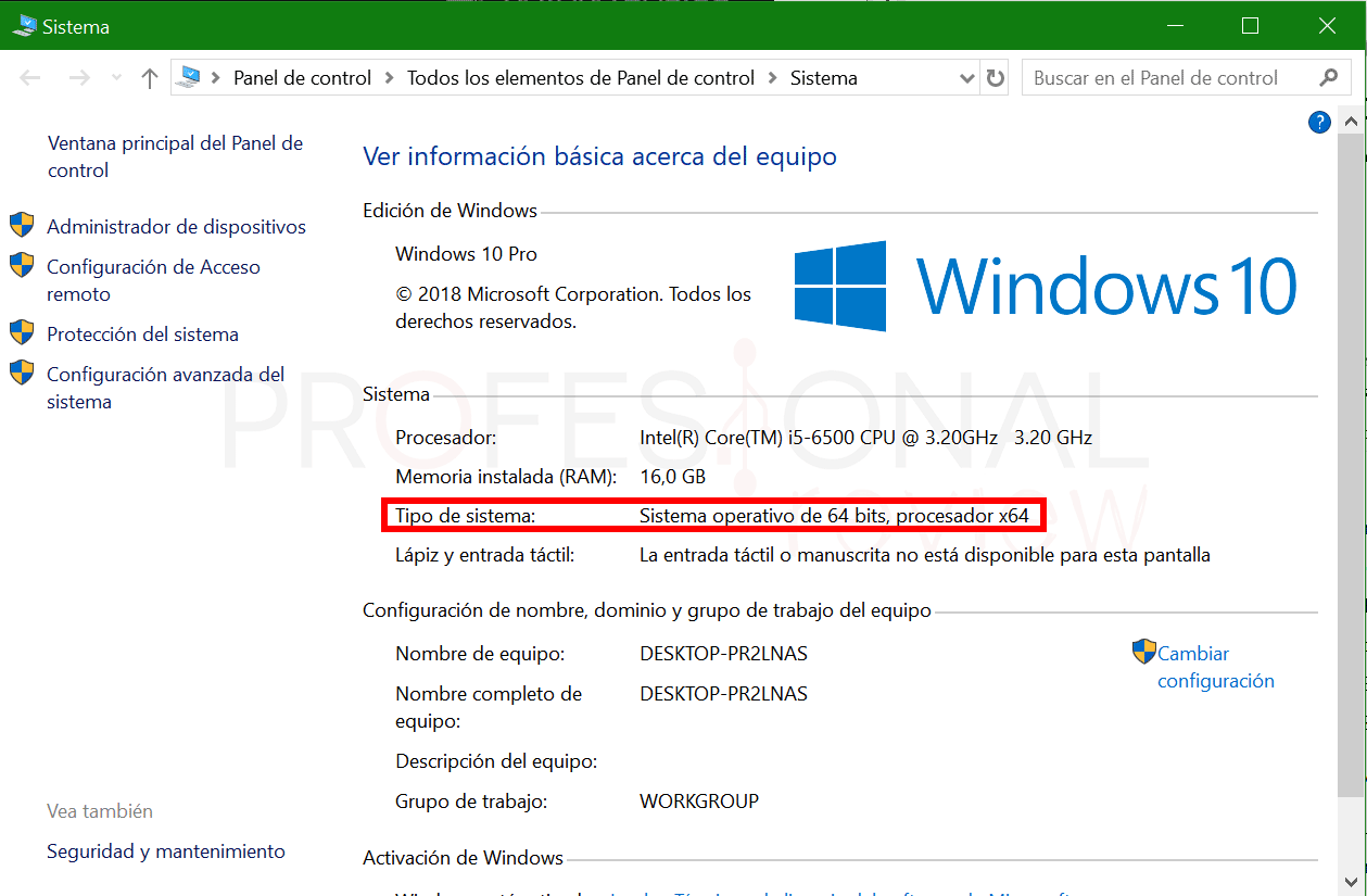 Saber si mi procesador es de 32 o 64 bits paso02