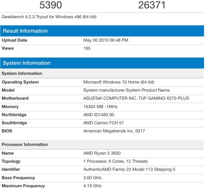 AMD Ryzen 5 3600 vence al Intel i7-8700K en precio/rendimiento