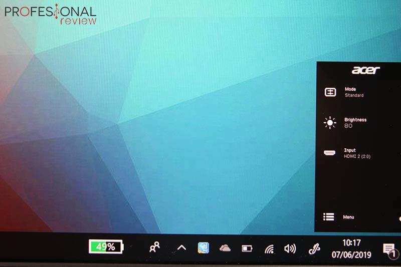 Acer Nitro XV3 OSD