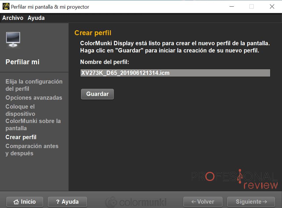 Acer Nitro XV3 Calibración