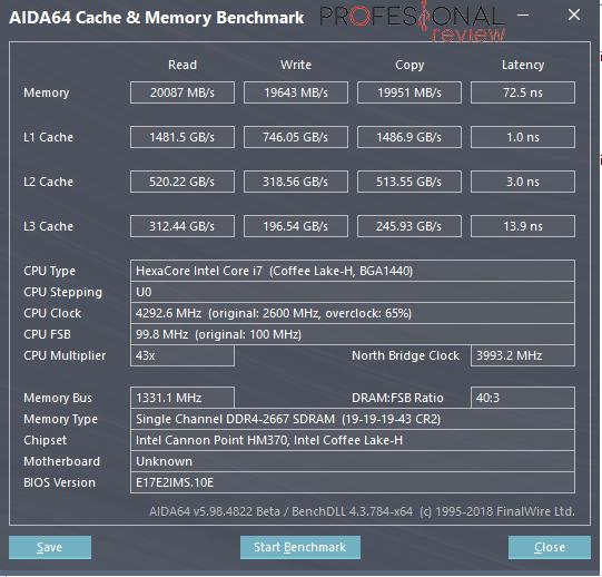 MSI GP75 Leopard 9SD benchmark