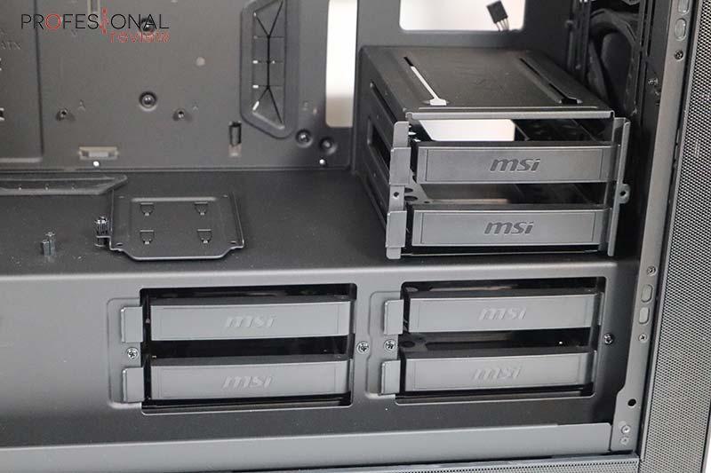 MSI MPG SEKIRA 500G almacenamiento