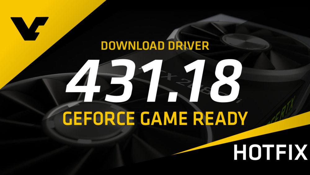 NVIDIA GeForce Game Ready 431.18