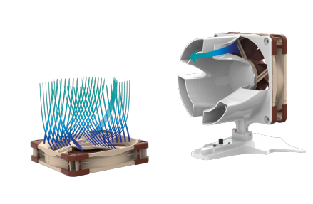 Tecnología Noctua de viento rotatorio