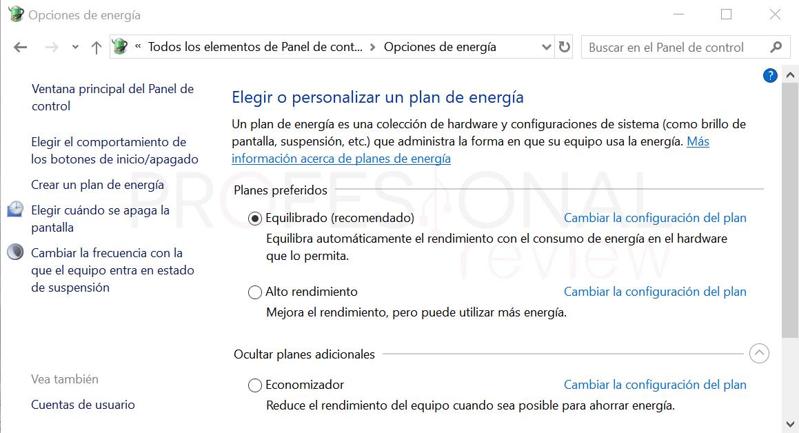 Activar plan máximo rendimiento paso02