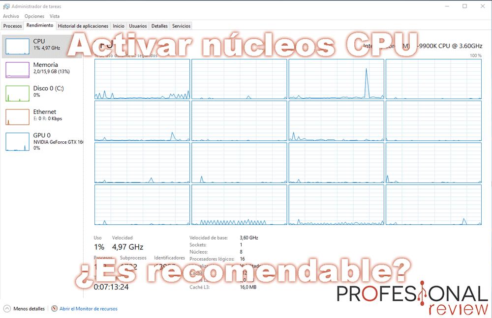 Activar núcleos procesador