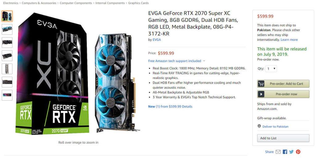 Nvidia RTX SUPER 2070 XC Ultra
