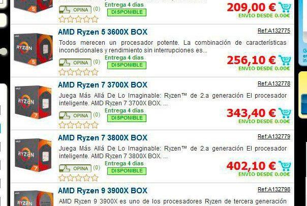 Photo of AMD Ryzen 3600, 3600X, 3700X, 3800X y 3900X conocemos su precio en España