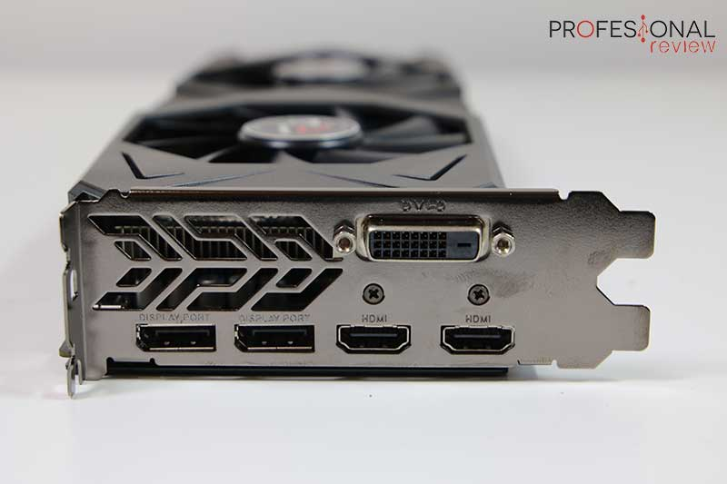 ASRock Phantom Gaming U Radeon RX 590 Puertos