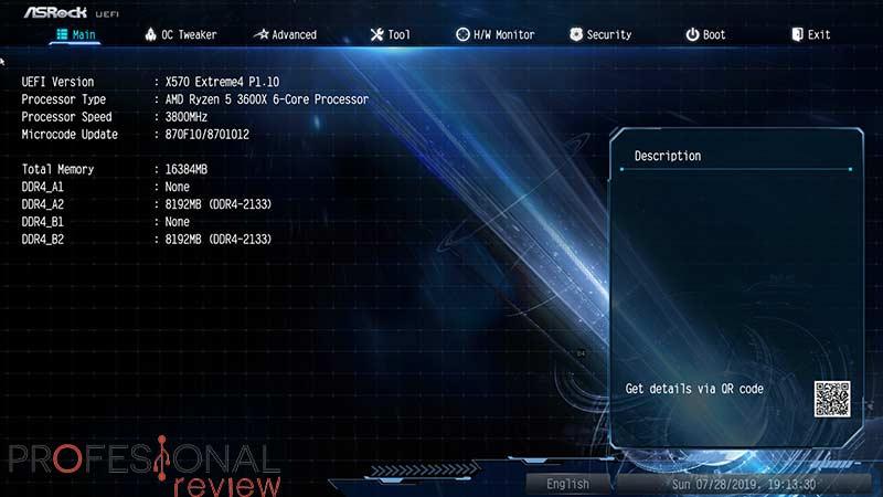 ASRock X570 Extreme4 BIOS