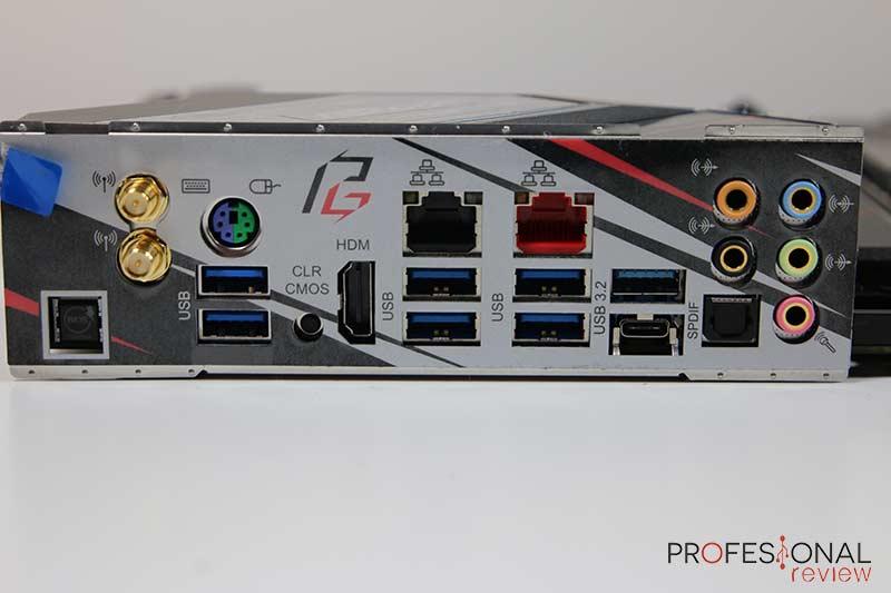 ASRock X570 Phantom Gaming X Puertos