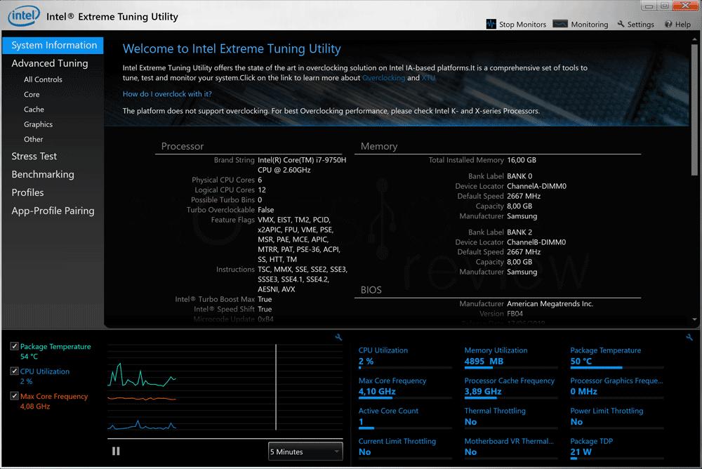 Bajar frecuencia Intel XTU paso 02