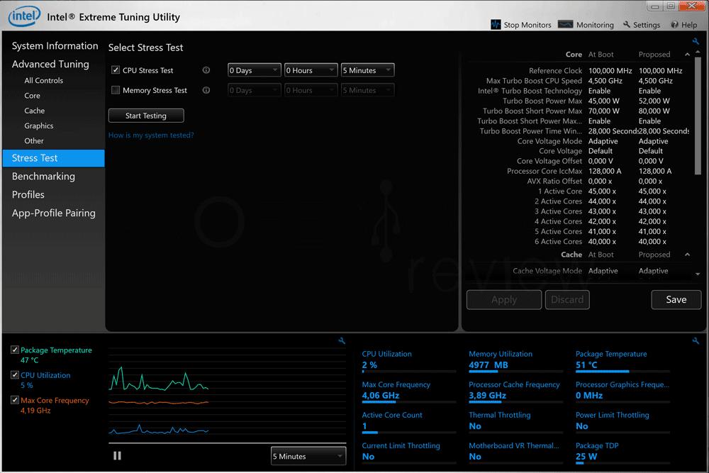 Bajar frecuencia Intel XTU paso 03