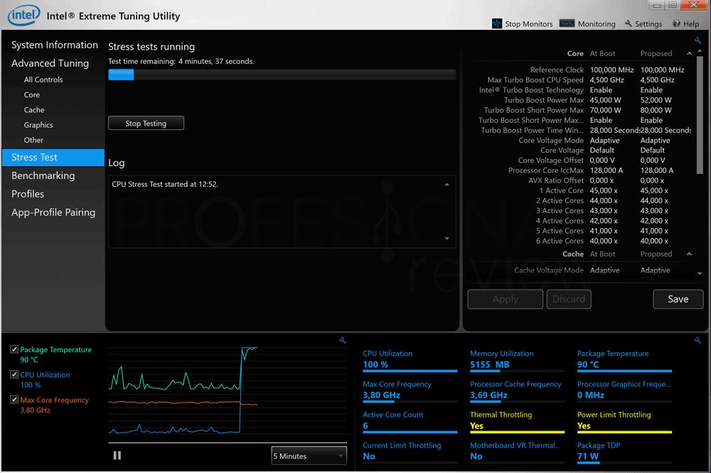 Bajar frecuencia Intel XTU paso 05