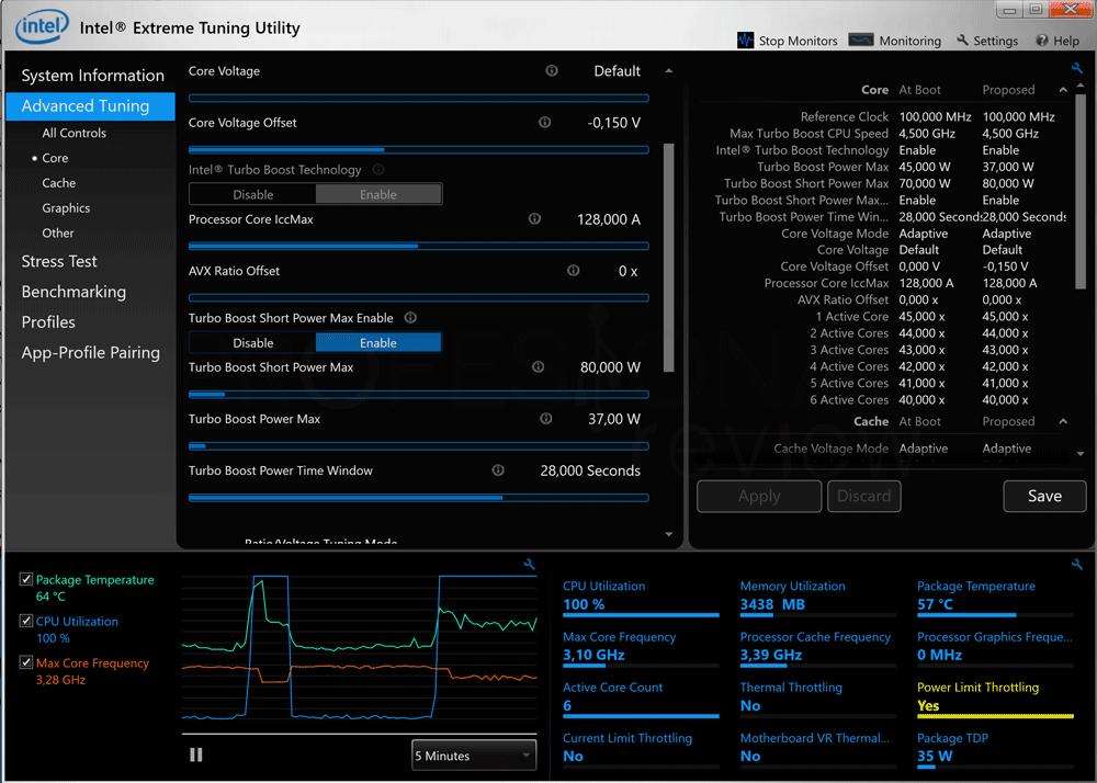 Bajar frecuencia Intel XTU paso 09