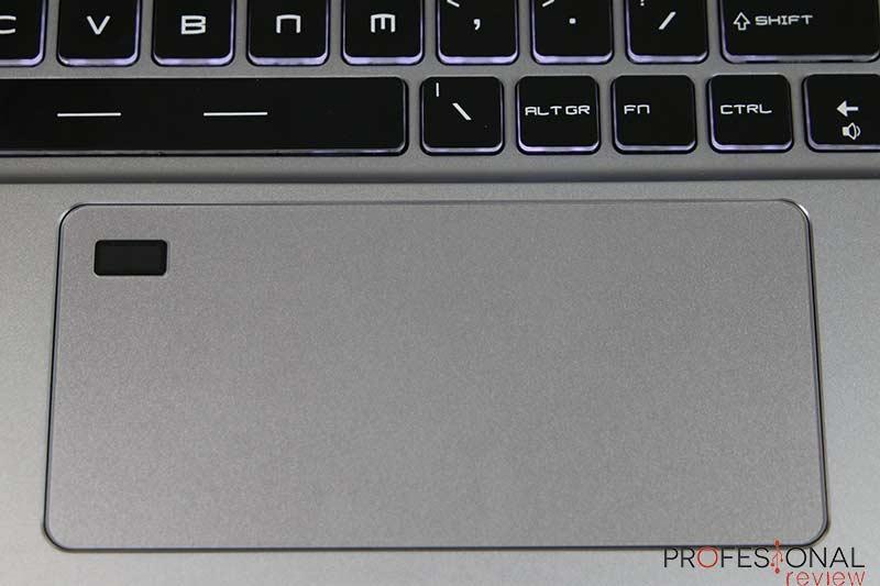 MSI P75 Creator 8SE Touchpad
