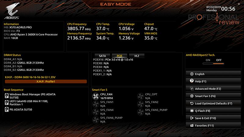 X570 AORUS Pro BIOS