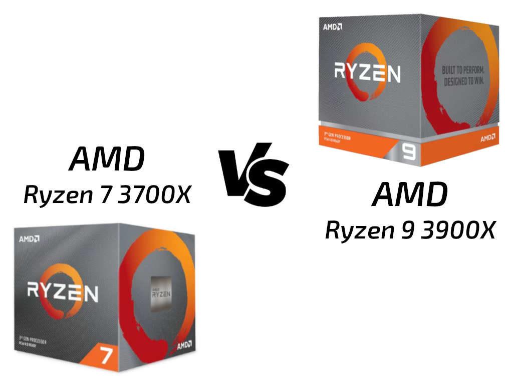 Ryzen 9 3900X vs Ryzen 7 3700X