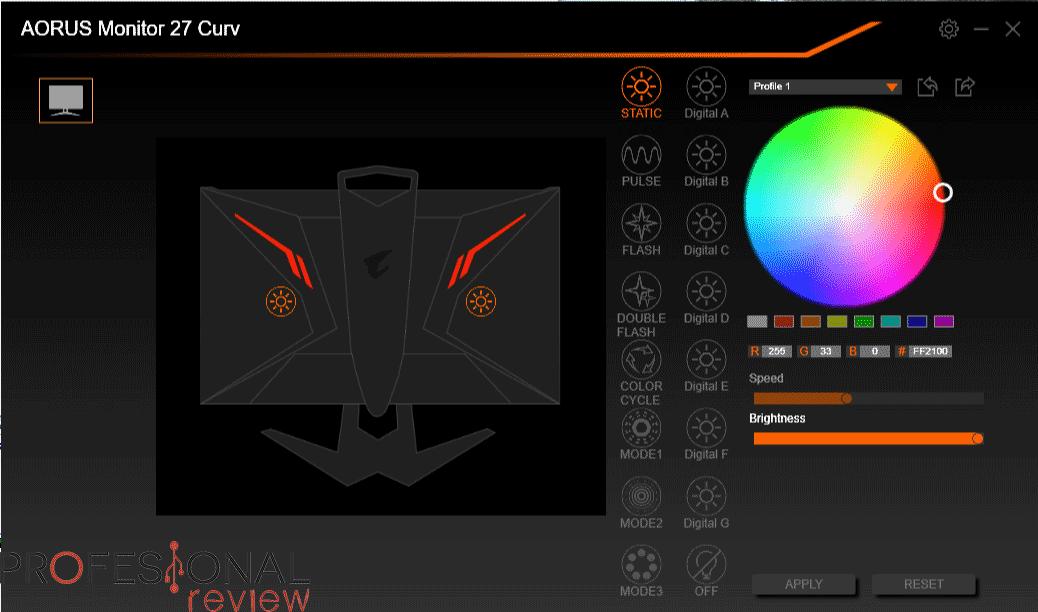 AORUS CV27F software rgb