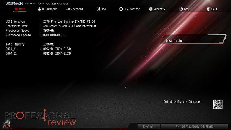 ASRock X570 Phantom Gaming-ITX TB3 BIOS