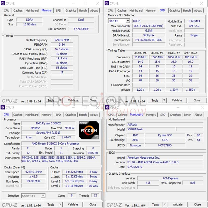 ASRock X570M PRO4 pruebas