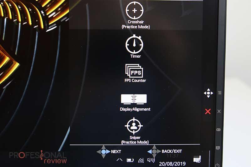 Asus TUF Gaming VG27AQ OSD