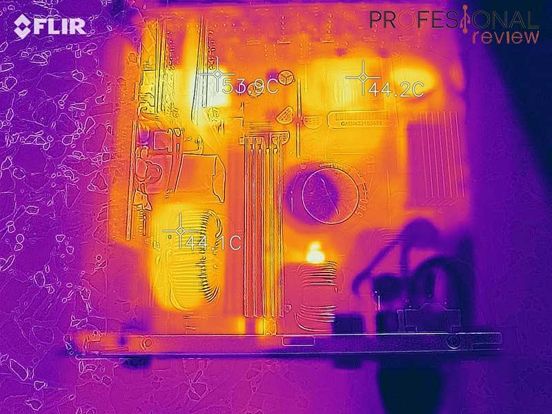 Cooler Master V850 Gold temperatura