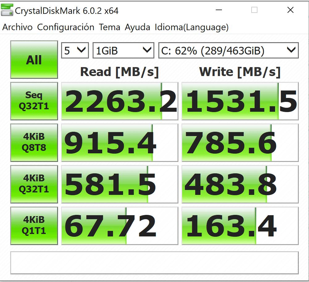 Gigabyte AERO 17 HDR XA SSD Benchmark