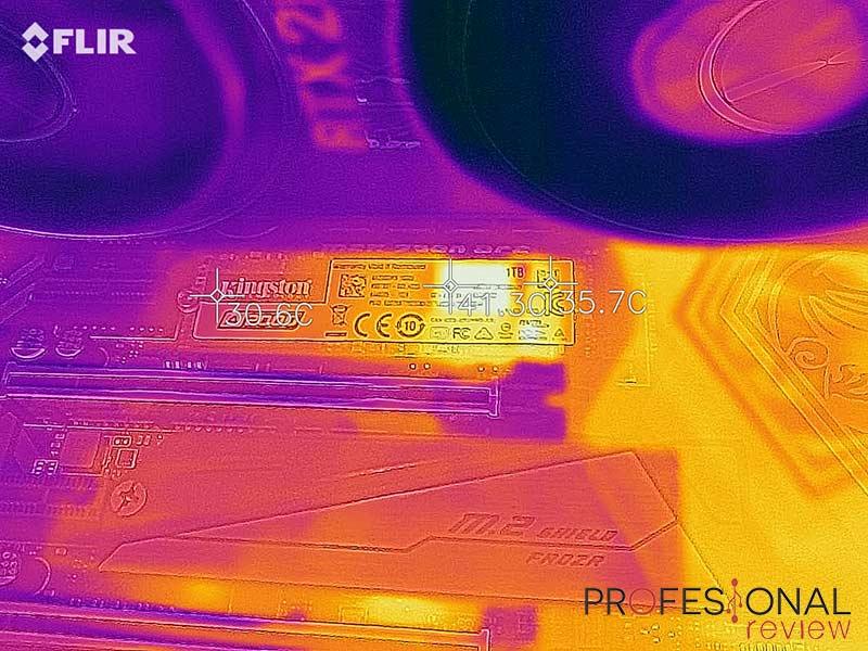 Kingston A2000 1TB temperatura