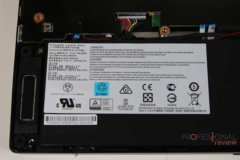 MSI WS65 9TK Batería