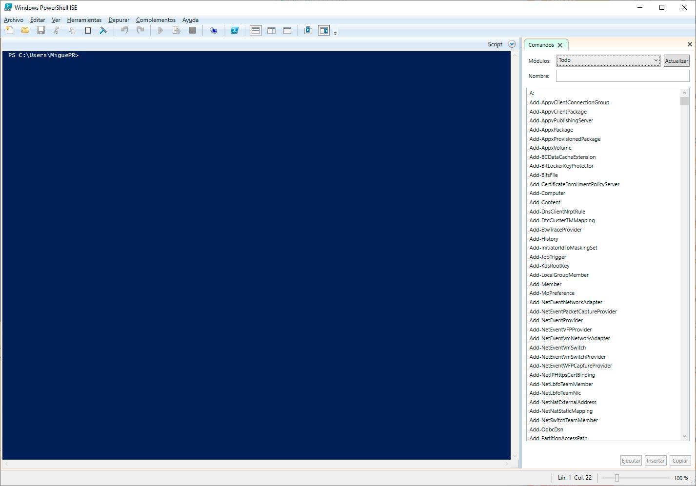 PowerShell script: Como ejecutar y escribir uno