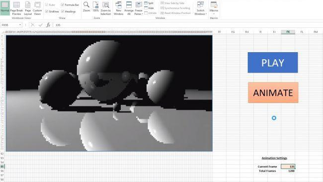 Photo of Ray Tracing en Excel, Un usuario añade la tecnología en hojas de calculo