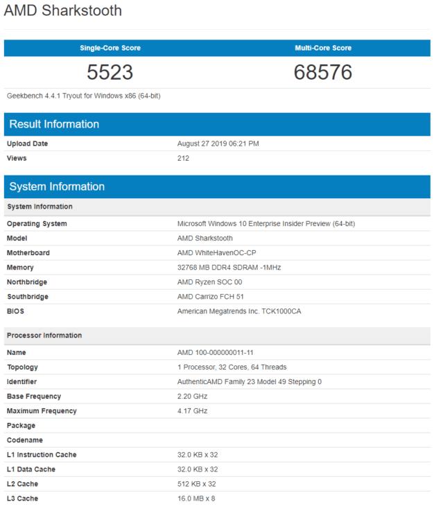 "AMD Ryzen Threadripper 3 ""Sharkstooth"""