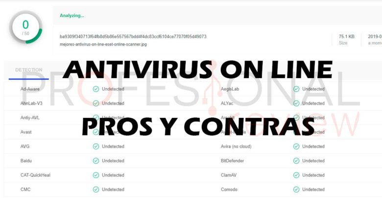Photo of Antivirus on line: pros y contras