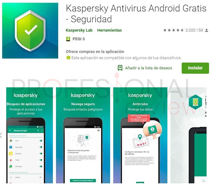 Mejor antivirus gratis android kaspersky